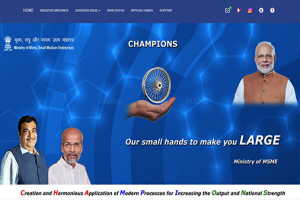 Homepage of the launched CHAMPIONS portal