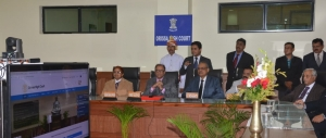 chief Justice Inaugurating the Portal
