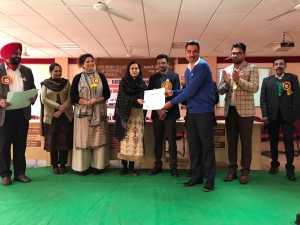 DIO Patiala, Punjab Felicitated on National Voters Day (NVD) 2020