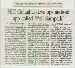 Newsitem in local newspaper