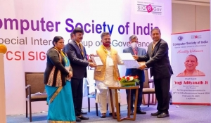 Padhai Tunhar Duar of NIC CGSC received CSI SIG eGovernance Award 2020