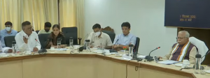 Sh. Deepak Bansal, SIO & DDG, NIC making portal presentation during the launch