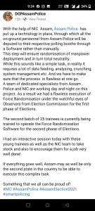 Facebook post of Director General of Police,  Assam