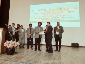 Award of Appreciation to DIO Pathankot, Punjab