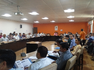 Training Session on RO Net application in progress at NIC Bilaspur