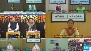 Hon'ble Union Minister Interacts Virtually with PM Garib Kalyan Ann Yojna Beneficiaries of Himachal Pradesh