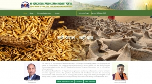 HP Agriculture Produce Procurement Portal home screen at https://hpappp.nic.in