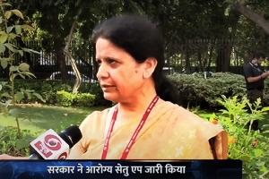 DG, NIC briefing DDNews on Aarogya Setu App