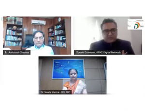 DG, NIC with other participants at Glocal India Healthcare Virtual Conclave