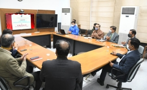 Launch of 'Leave Module of e-Human Resource Management System'   of Chandigarh Administration